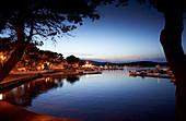 Fishing boats and yachts in the harbor of Ilovic, Kvarner bay, Adriatic sea, Croatia