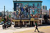 Art work (mural), San Francisco, California, United States of America, North America