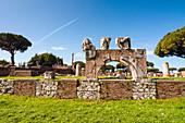 The Basilica, Ostia Antica archaeological site, Ostia, Rome province, Lazio, Italy, Europe