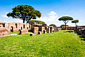 Case a Giardino, Ostia Antica archaeological site, Ostia, Rome province, Lazio, Italy, Europe