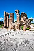 Terme di Porta Marina, Ostia Antica archaeological site, Ostia, Rome province, Lazio, Italy, Europe