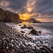Sonnenaufgang am Ponta de Sao Lourenco, Madeira, Portugal