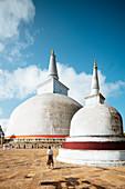 RRuwanwelisaya Dagoba (Goldener-Sand-Dagoba), Anuradhapura, UNESCO-Welterbestätte, Nordmittelprovinz, Sri Lanka, Asien