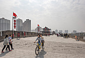 Xi'an City Wall, Shaanxi Province, China, Asia