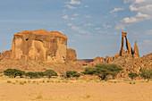 Unique rock arch, Ennedi Plateau, UNESCO World Heritage Site, Ennedi region, Chad, Africa