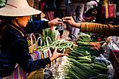 Pindaya food market, Shan State, Myanmar (Burma), Asia