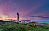Mid-summer sunrise over The Mull of Galloway Lighthouse, Galloway, Scotland, United Kingdom, Europe