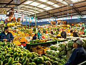 The produce section of Paloquemao market, Bogota, Colombia, South America