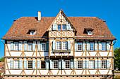 Historic half-timbered building in Maulbronn Monastery village, Maulbronn, Baden-Wurttemberg, Germany