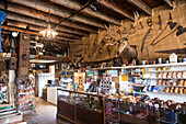 Shop in Polebridge Mercantile, Polebridge, Glacier National Park, Montana, USA