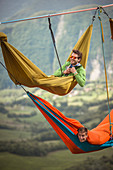 Extreme hammocking during Bismantova Highland Meeting 2017, Bismantova, Bologna, Italy