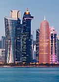 Corniche skyline, West Bay, Doha, Qatar