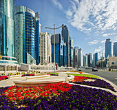 Skyscrapers, Conference Center, West Bay, Diplomatic Area, Doha, Qatar