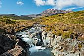 Wairere Stream, Mount Ruapehu, Tongariro Nationalpark, Manawatu-Wanganui, Nordinsel, Neuseeland