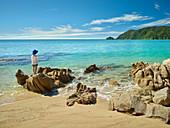 Child, Wainui Inlet, Tasman, South Island, New Zealand, Oceania