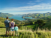 Family, Banks Peninsula, Canterbury, South Island, New Zealand, Oceania
