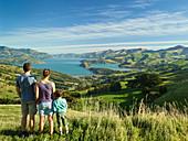 Family, Banks Peninsula, Canterbury, South Island, New Zealand, Oceania