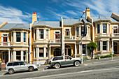 historische Häuser, Dunedin, Otago, Südinsel, Neuseeland, Ozeanien