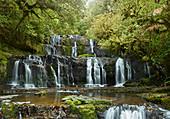 Purakaunui Falls, Catlins, Otago, Südinsel, Neuseeland, Ozeanien