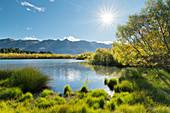 Glenorchy Lagoon, Otago, Südinsel, Neuseeland, Ozeanien