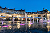 Water fountains on the Place de la Liberation in Dijon, Cote d Or, Cote-d'Or, Burgundy, France