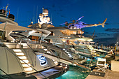 Luxury yachts in the harbor of St Tropez, Var, Cote d'Azur, southern France, France, Europe, Mediterranean Sea, Europe