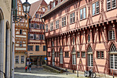 Old Town Hall and half-timbered houses in Esslingen, Baden Würtenberg, Germany