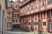 Altes Rathaus und Fachwerkhäuser in Esslingen, Baden-Württemberg, Deutschland