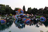 Chinesisches Lichterfest im Botanischen Garten Montreal, Quebec, Kanada