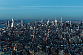 Scenic cityscape view, New York City, New York, USA