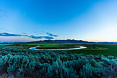 Fluss bei Sonnenuntergang in Picabo, Idaho, USA