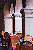Restaurant Seating Amidst Columns, Oaxaca, Mexico