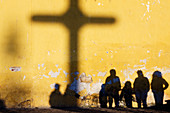 Shadow of Cross and People,Chiapas, Mexico