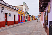 Colorful Buildings on Street, Chiapas, Mexico