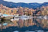 Stadthafen bei Sonnenaufgang, Monte Carlo, Monaco