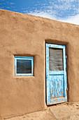Door to An Adobe Building,Taos, New Mexico, USA