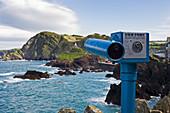 Teleskop am Aussichtspunkt, Devon, England, UK, Europa