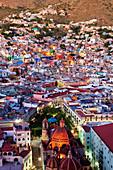 City Skyline, Overlook at the Ppila,City of Guanajuato, Guanajuato, Mexico