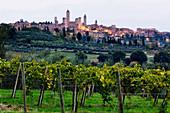 Hill Town of Pienza, San Gimignano, Tuscany, Italy