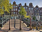 Pedestrian Foot Bridge Over Canal, Amsterdam, Holland