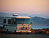 Wohnmobil am Meer, Kalifornien, USA