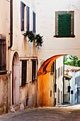Street Scene, Panzano, Tuscany, Italy