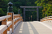 Bridge at the Entrance to a Shrine, Ise, Japan