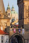 Little Quarter Towers and St Josephs Church, Prague, Czech Republic
