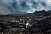 Cape Verde, Island Fogo, NationalPark Fogo, Village Cha,landscape, Active Vulcano, Lavafields, coffee, wineyards, wine,farmers, working the land