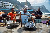 Cape Verde, Island Santo Antao, landscapes, mountains, coastline, fishmarket, tuna, fishermen\n\n\n\n\n\n\n\n\n