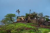 Haus auf einem Hügel im Hinterland der Insel Santiago, Kap Verde