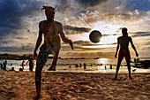 Cape Verde, Island Santiago, beach, sunset, football\n\n\n\n\n\n