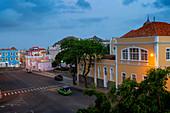 Cape Verde, Island Sao Vincente, Mindelo, rooftop view twighlight