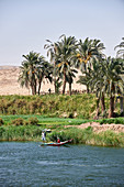 Fishermen in the river Nile